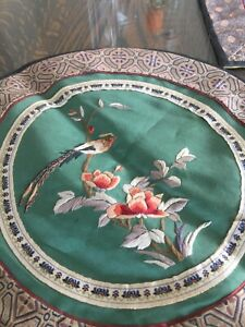 Vintage Chinese Silk Embroidery Panel Tapestry