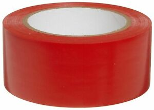 Red Colored Vinyl Tape 2in X 36 Yards Full Case Of 24 Rolls