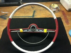 1963 Chevrolet Impala Original Steering Wheel With Horn Center Trim Cap