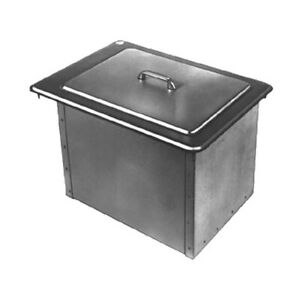 Delfield 305 22 Drop in Design Ice Bin chest With Cover 45lb Capacity