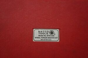 Matco Tools Wtk1590 Wheel Torque Master Kit