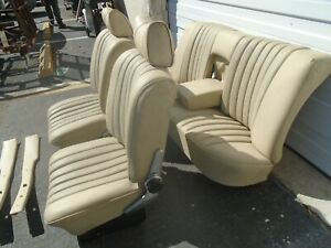 Mercedes W108 109 110 111 280se Complete Seats Set Assembly Front Rear Beige