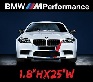 Bmw M Performance Windshield Decal Sport Sticker Graphic Side Banner Turbo Race
