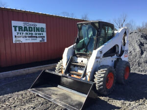 2005 Bobcat S250 Skid Steer Loader W Cab One Owner Only 1200 Hours