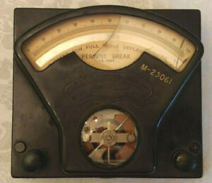 Weston Electrical Milliamp Meter Model 51623 Vintage 1950s