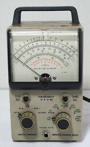 Heathkit Vtvm Im 18 Vacuum Tube Volt Meter No Probes Powers On