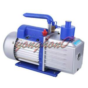 110v 2 stage 12cfm Rotary Vane Vacuum Pump For Refrigerator Air Conditioning 1hp