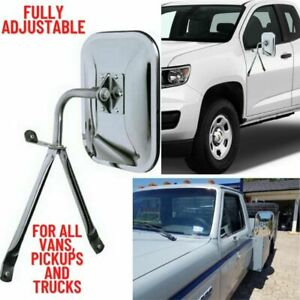 Truck Replacement Side Mirror Full Size Universal Low Mount For Pickup Van