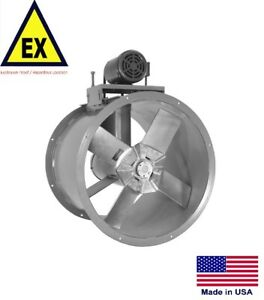 Tube Axial Duct Fan Explosion Proof 20 115 230v 3 4 Hp 6395 Cfm