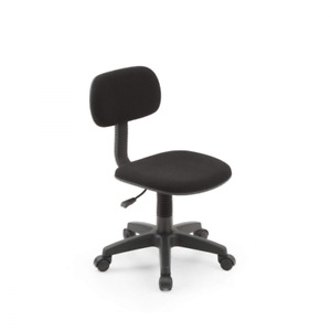 Armless Task Chair Classic Computer Desk Swivel Chair Office Dorm Kid Black Used