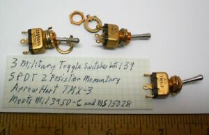 3 New Military Toggle Switches Spdt Arrow H tmx 3 Lot 139 Made In Usa