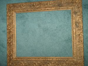 Victorian Gold Flowers W Heavy Combo Gesso Picture Frame Ornate Intricate Design