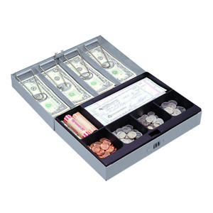 Sparco Combination Lock Cash Box Steel 11 1 2 X 7 3 4 X 3 1 4 Inches Gray