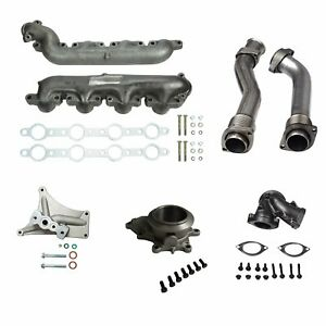 Bellowed Up Pipes Turbo Pedestal housing For 99 5 03 Ford 7 3 Powerstroke Diesel