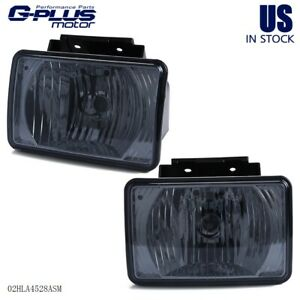 Left Right For 2004 2012 Chevy Colorado Gmc Canyon Fog Light Lamps Smoked Lens