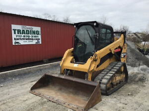 2015 Caterpillar 259d Compact Track Skid Steer Loader W Cab 2spd High Flow