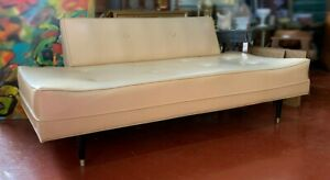 Mid Century Modern Sofa Couch Daybed Danish Trundle 1950 1960 Removable Back