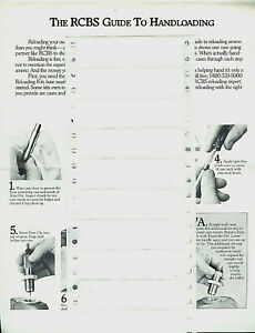 Copy* RCBS Rock Chucker Ammunition Reloading Press Pictorial Step By Step Guide $9.99