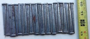 Lot Of 25 Vintage Unused Slightly Rusted Barn Find 3 Inch Square Cut Nails