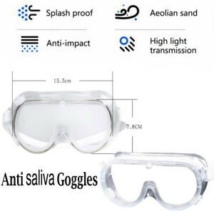 Us Anti Saliva Safety Glasses Goggles Eye Protection Work Anti Dust Adjustable