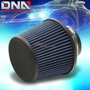 3 6 W Universal Cold Short Ram Intake Dry Cone High Flow Blue Cotton Air Filter
