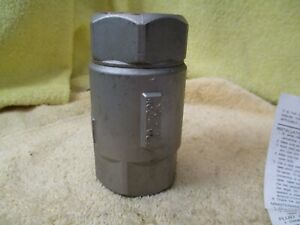Conbraco 1 1 4 Stainless Steel Check Valve 400 Wog Spring Closure A8