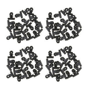 40 Pcs Steel Bulldog Clips Paper Letter Photos Large Binder Clamps 3in