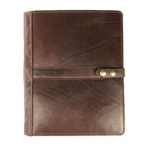 Steel Timber Leather Large Executive Folio