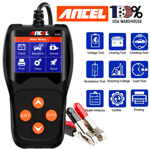 Ancle Ba201 Car 12v Battery Tester 100 2000cca Digital Car Battery Analyzer Tool