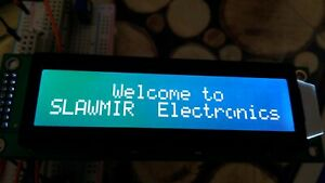 2x20 Characters Lcd Display White On Green Stn Negative Led Backlight 2x8pin