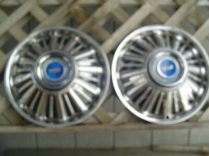 Two 1967 67 Ford Fairlane Galaxie Hubcaps Wheelcovers Center Cap Antique Vintage