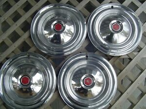 1955 55 1956 56 Packard Chipper 15 In Hubcaps Wheel Covers Center Caps Vintage