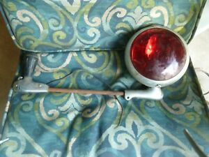 Antique Vintage 18 Wide Red Spotlight Light Ford S6 Unity Mfg Co Chicago
