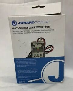 Jonard Tools Tet 700 Cable Tester And Toner solidst Circuitry