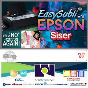 Epson Siser Easysubli Sublimation Heat Transfer Vinyl 8 4 X 11 100 Sh Pack Htv