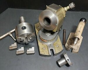 Rare Usa Tilting Swivel 5c Collet Indexing Fixture Grinding Machinist Index