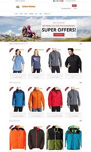 Outdoor Clothing Store Custom Amazon Affiliate Website Free Install hosting