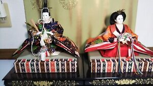 Vintage Japanese Hina Doll In Kimono Lot Royal Wedding Style 2 Dolls Excellent