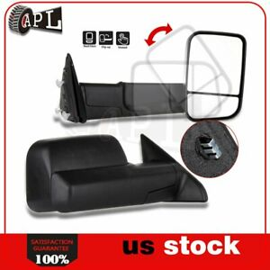 Manual Tow Mirrors For 2010 2015 Dodge Ram 1500 2500 3500