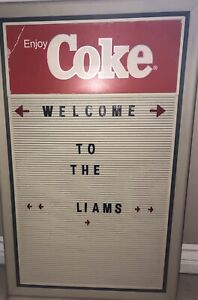 "Enjoy Coke - Vintage Coca Cola Menu Board - 29""x18"""