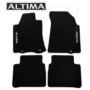 For 13 16 Nissan Altima Floor Mats Carpet Front Rear Nylon Black W Altima