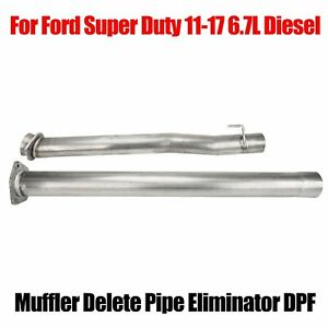 Muffler Delete Pipe Eliminator Dpf For Ford Super Duty 2011 17 6 7l Diesel Truck