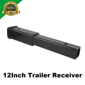 12 Trailer Hitch Extension Receiver 2 Extender 5 8 Pin Hole 4000 Lbs Towing