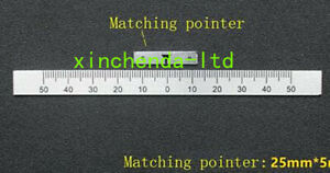 Bridgeport Milling Machine 50 Degree Angle Plate Scale Ruler With Pointer