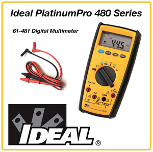 Ideal Platinumpro 480 Series True Rms 61 481 Digital Multimeter Free Tester