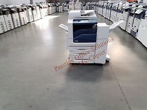Xerox Workcentre 7855 Color Copier Printer With Stapling Finisher