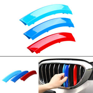 3pcs Car Front Grille Cover Insert Trim Decal Parts Fit For Bmw X5 E70 2007 2013