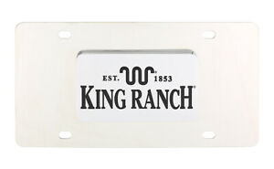King Ranch Est 1853 Wordmark Chrome Decorative Vanity License Plate Cover