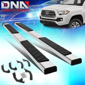 For 2005 2020 Toyota Tacoma Chrome 5 wide Double Cab Flat Step Bar Running Board