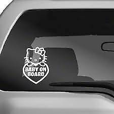 Hello Kitty Baby On Board Sticker Vinyl Decal Car Pick Color And Size